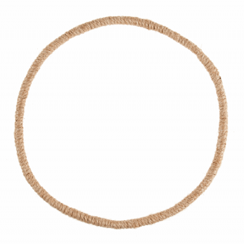 Wreath Base Jute Wrapped Wire 19cm 7.5in